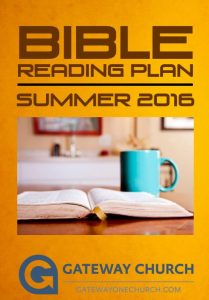 GCSummer Reading plan